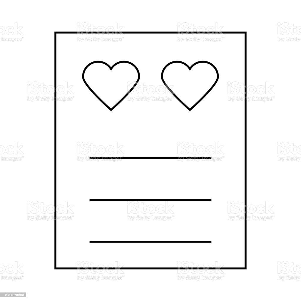 Love Card Invitation Letter Stock Illustration Download