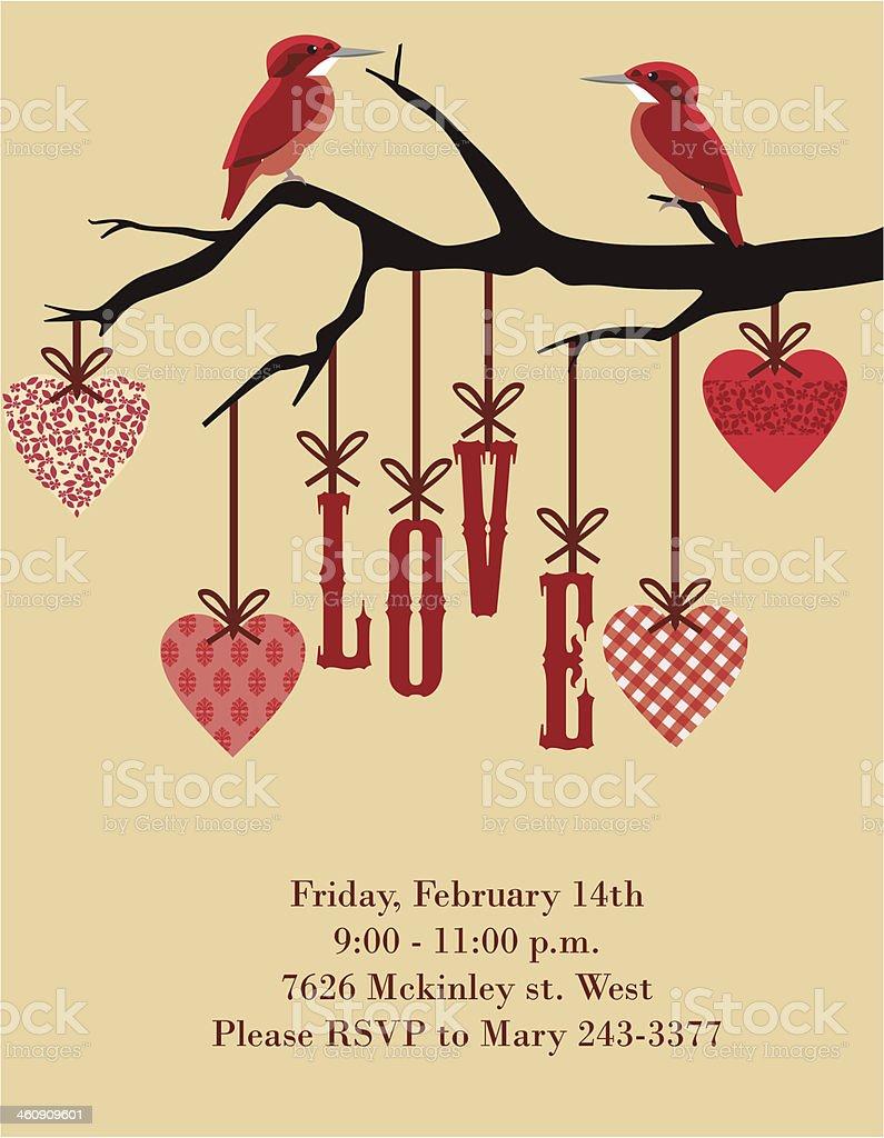 Love card vector art illustration