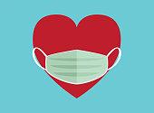 mask, Multi-Ethnic Group, Heart Shape, Circle, Conceptual Symbol