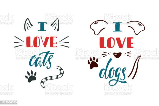 Love cats i love dogs handwritten inspirational quote about dog and vector id882866550?b=1&k=6&m=882866550&s=612x612&h=doals njm i0ce sb90kw53xmwyk74yedjy295 ou k=