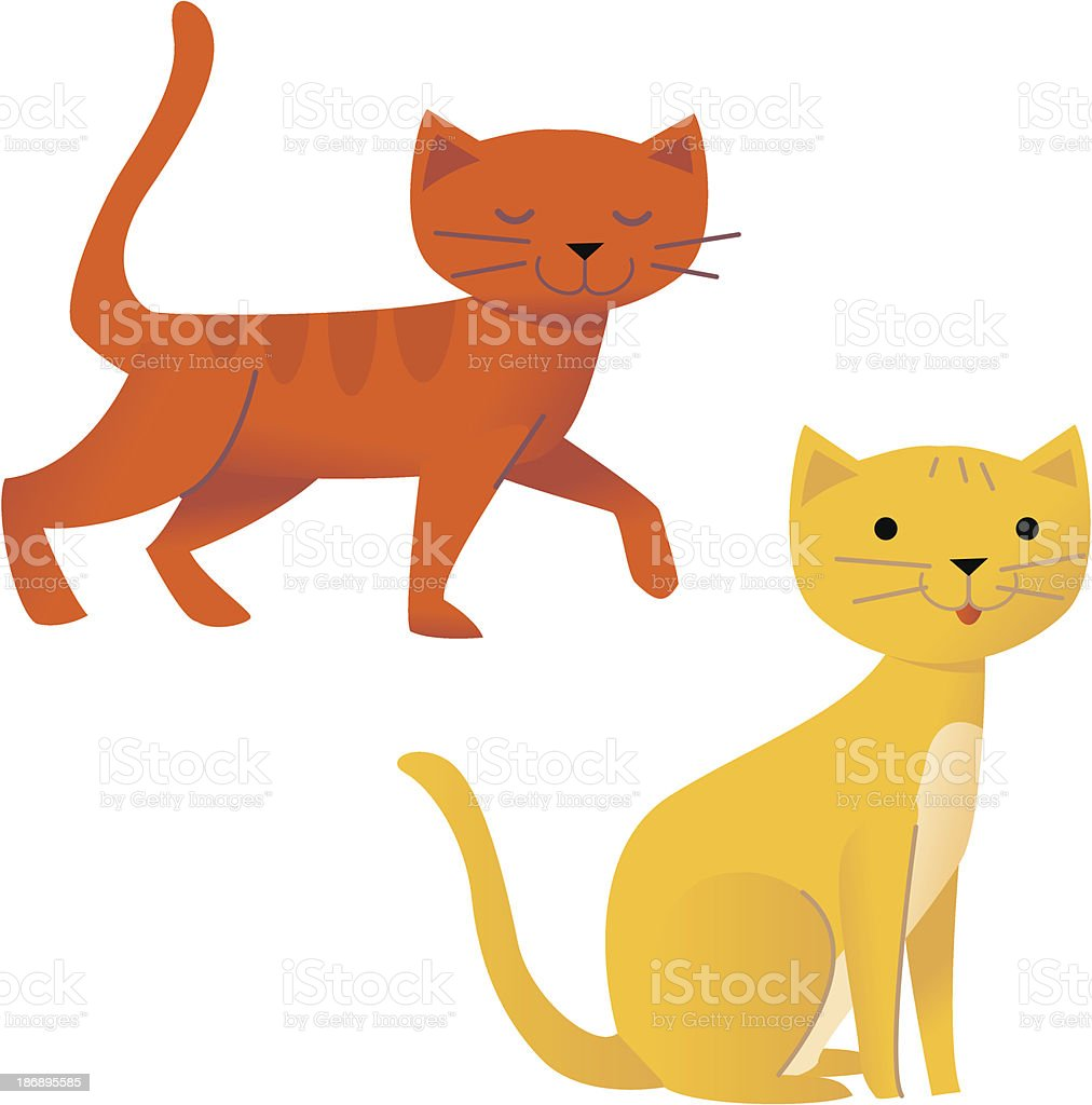 Love Cats vector art illustration