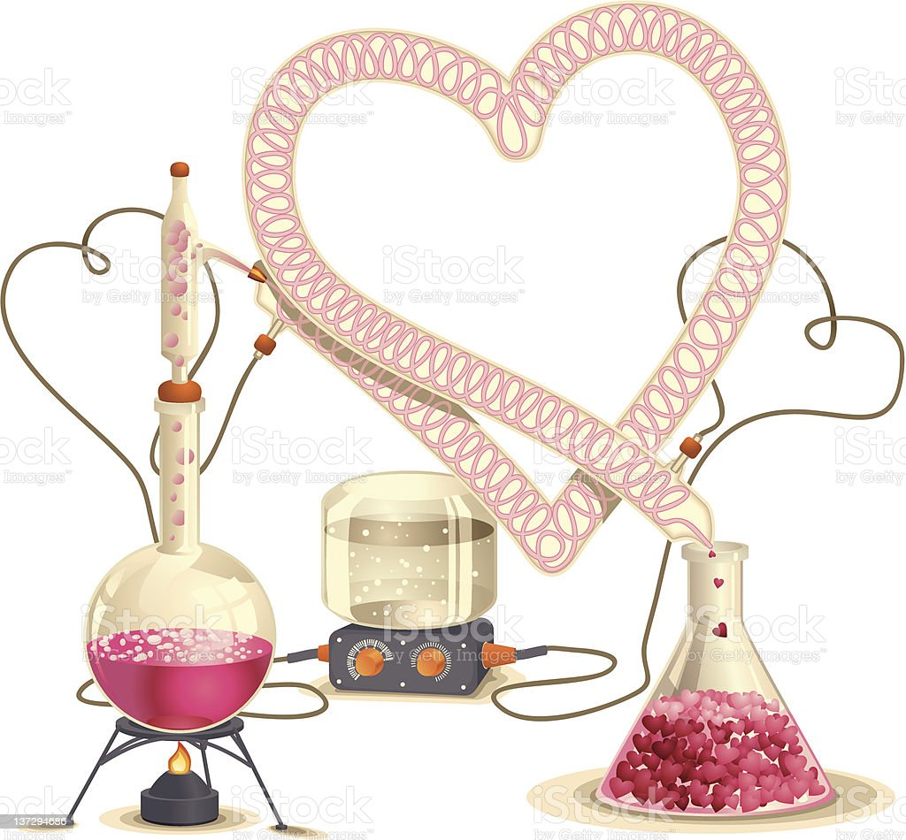 Love Chemistry vector art illustration