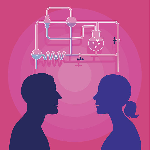 Amour chimie - Illustration vectorielle