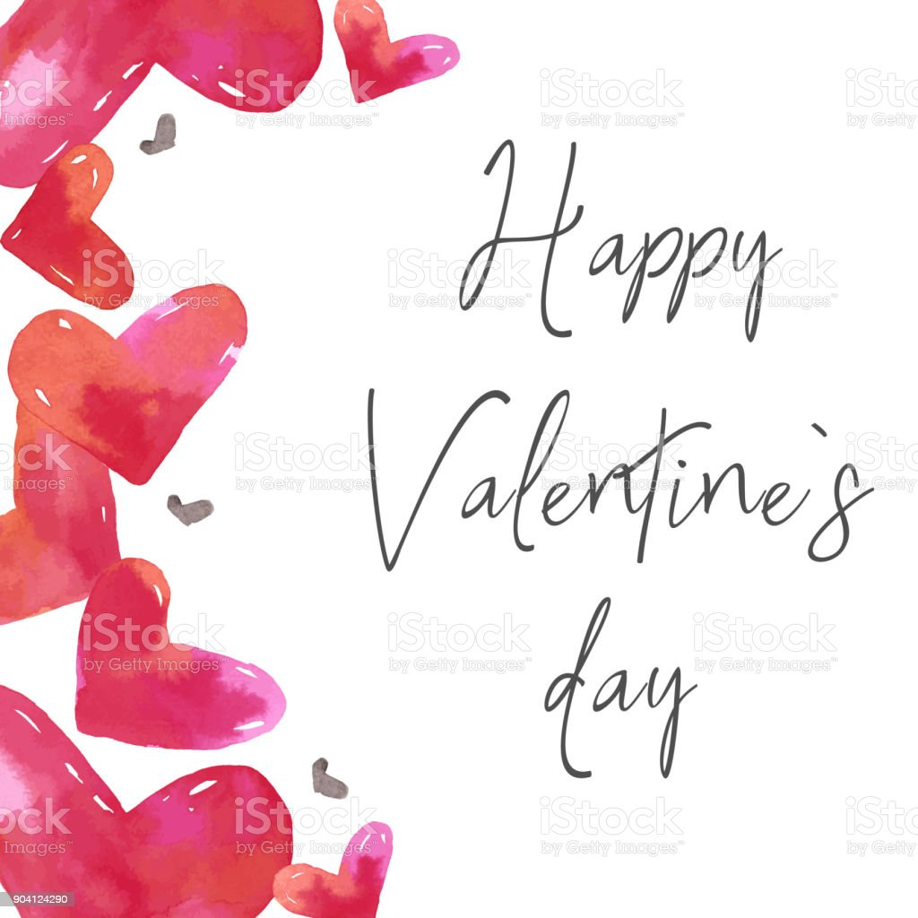 Happy valentines day - feliz san valentin vector image on VectorStock |  Happy valentines day, Happy valentine, Valentines