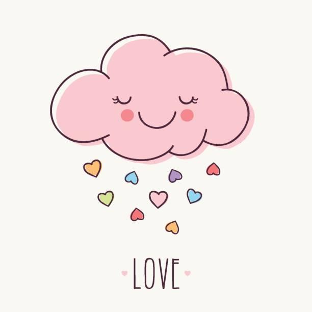 Love Cloud vector art illustration