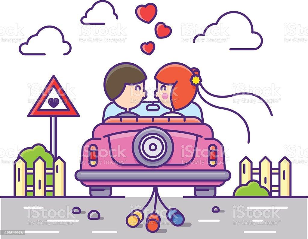 Love concept flat Lizenzfreies love concept flat stock vektor art und mehr bilder von auto