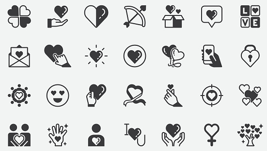 Love Concept Icons
