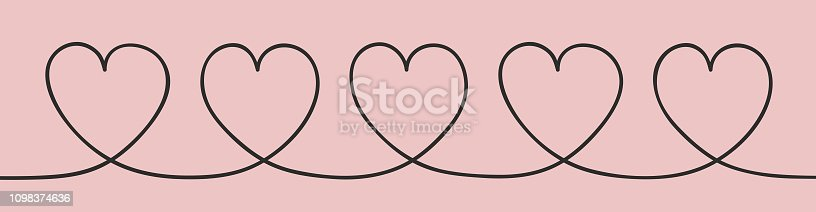 Love concept with hand drawn hearts. Mother's Day, Women's Day and Valentine's Day. Vector