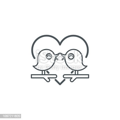 love concept,bird with heart shape icon,vector illustration. EPS 10.