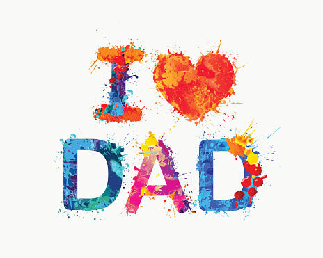 Download I Love Dad Stock Illustration - Download Image Now - iStock