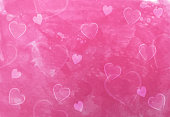painted style valentine's day heart love background