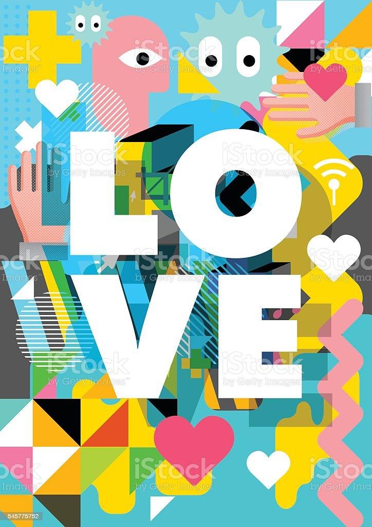 Love design for vector art illustration