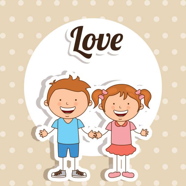 illustrations, cliparts, dessins animés et icônes de l'amour design - enfants de bande dessinée