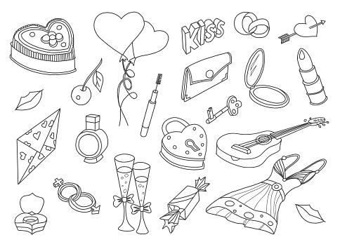 Love Doodles Set