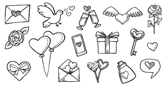 Love Doodles Valentine's Day Set