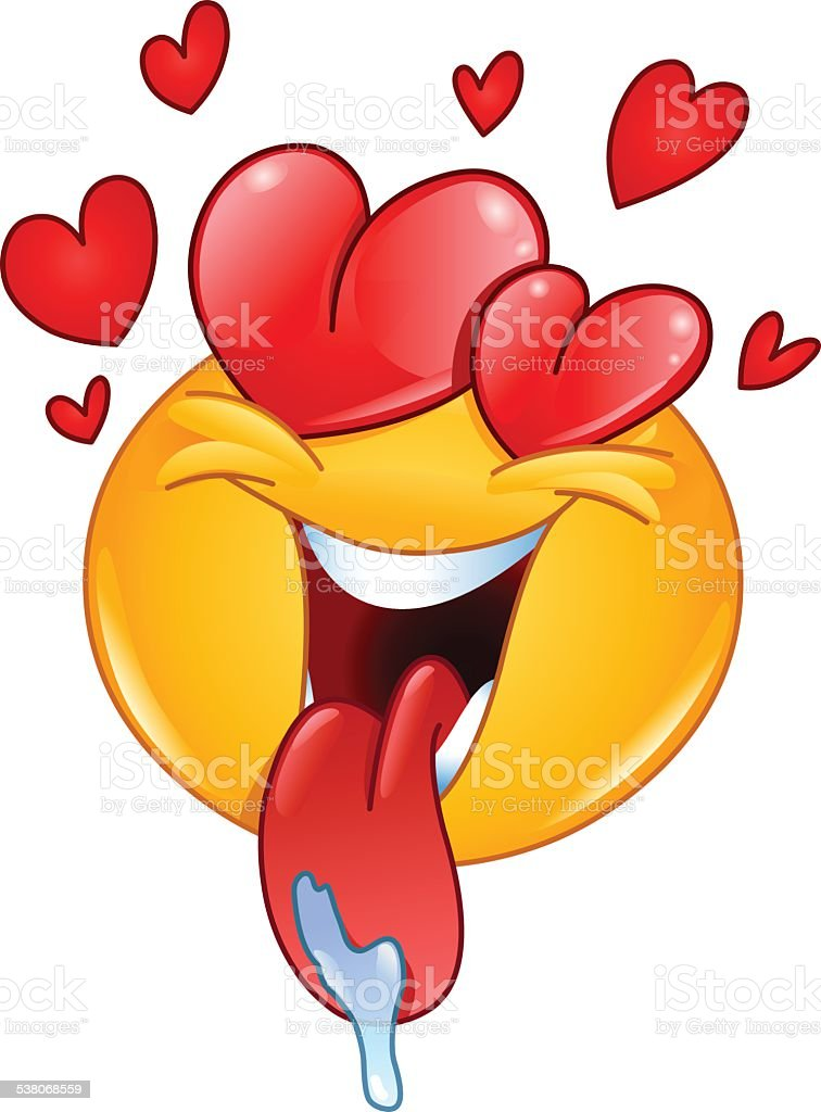 Love emoticon – Vektorgrafik