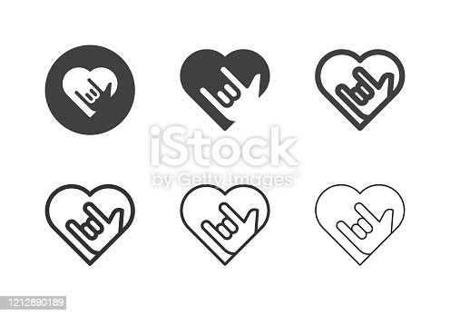 Love Emotion Icons Multi Series Vector EPS File.