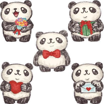 Love expression of panda