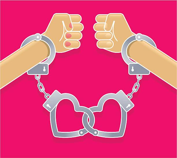 Love fight vector art illustration
