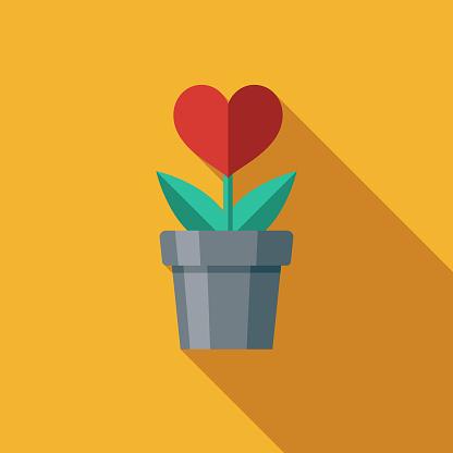 Love Flat Design Charity & Donation Icon