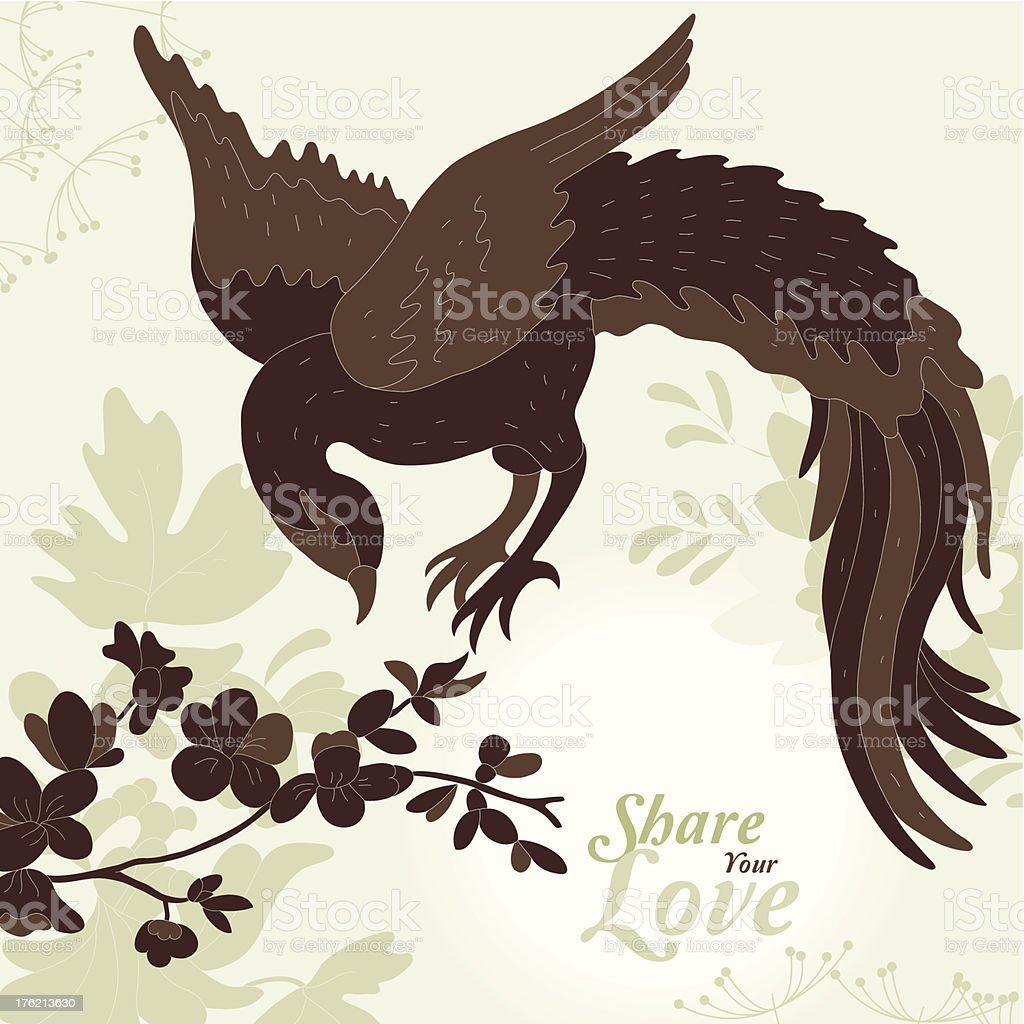Love Flowers Elegant Card royalty-free stock vector art