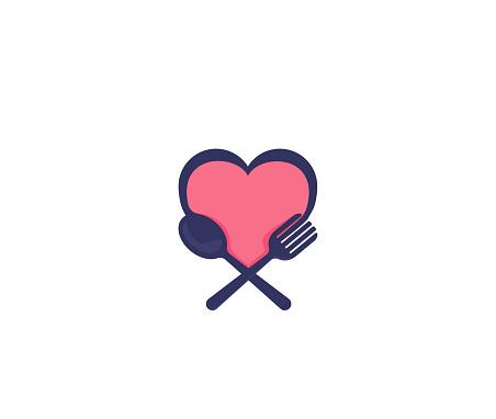 Love food design spoon fork