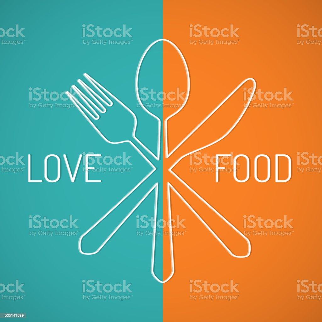 Love food vector art illustration