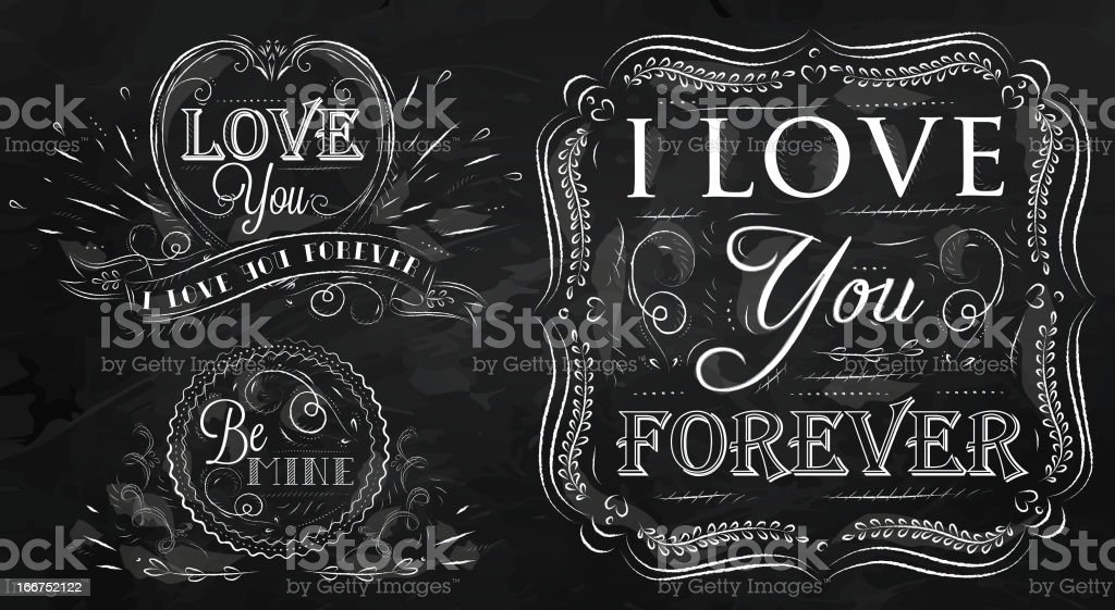 Love forever chalk royalty-free stock vector art
