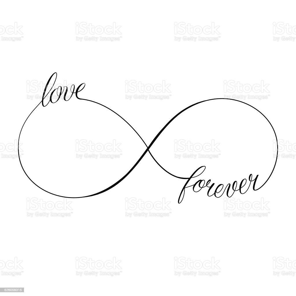 Love Forever vector art illustration
