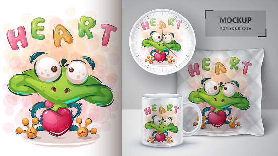 Love frog poster and merchandising