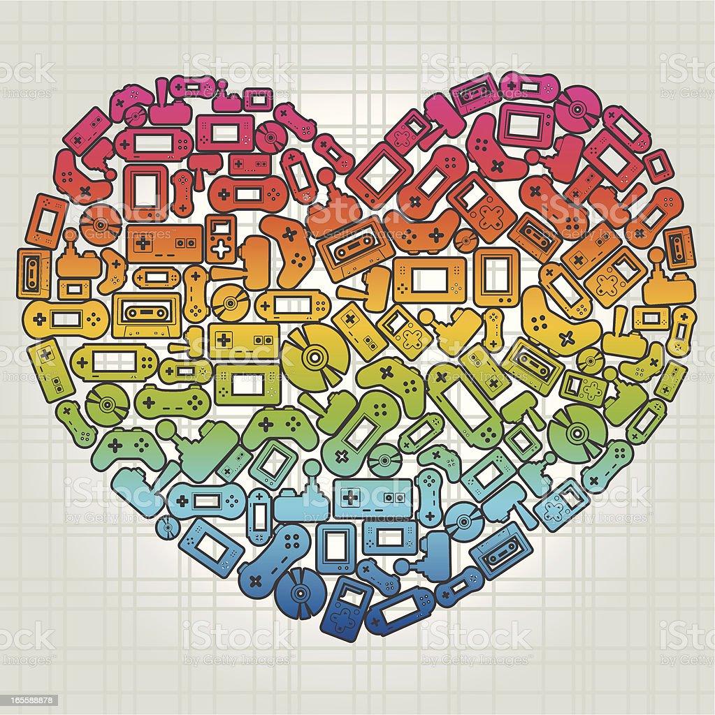 I Love Gadgets! vector art illustration