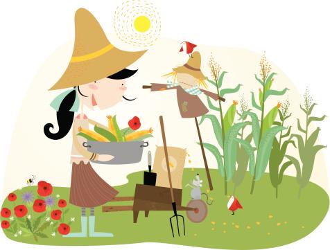 Love Gardening Stockvectorkunst en meer beelden van Alleen kinderen