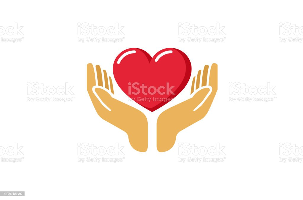 Love Giving Heart Love Hands Holding icon, - Royalty-free Amizade arte vetorial
