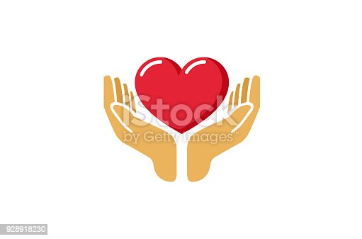 istock Love Giving Heart Love Hands Holding icon, 928918230