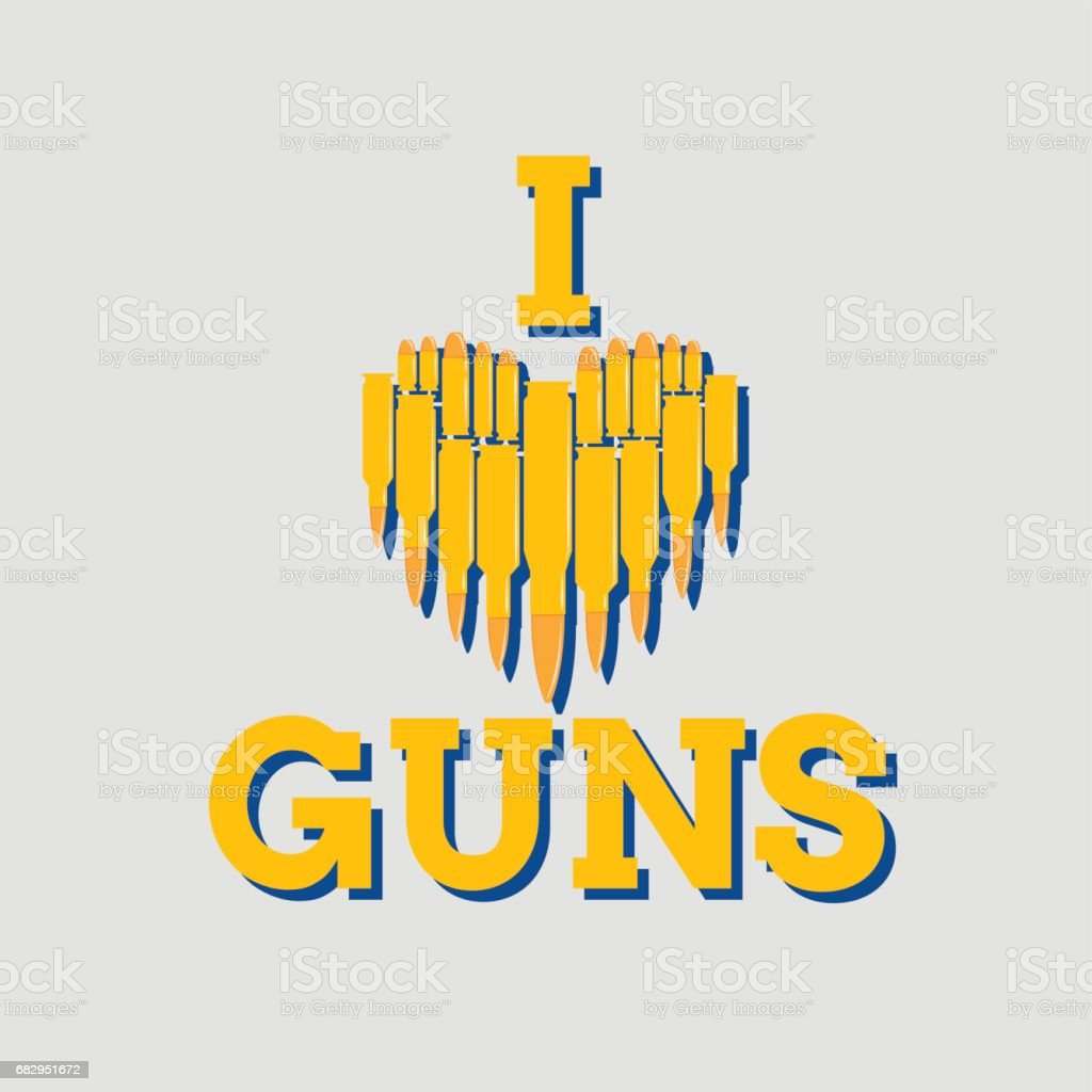 I love guns vector illustration. Military concept. For print, web, t-shirts, postcard. royalty-free i love guns vector illustration military concept for print web tshirts postcard stock vector art & more images of abstract