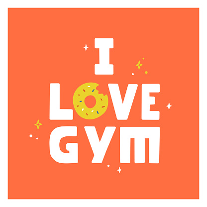 I love gym poster with donut