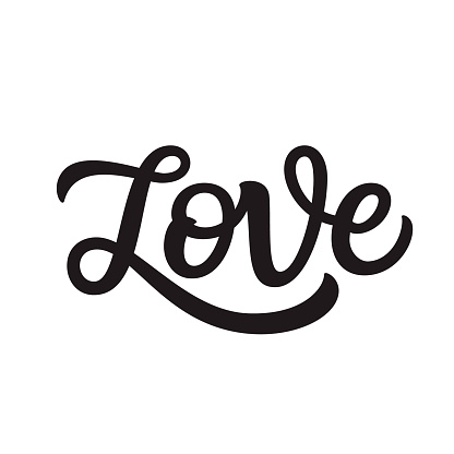 Love. Hand lettering word