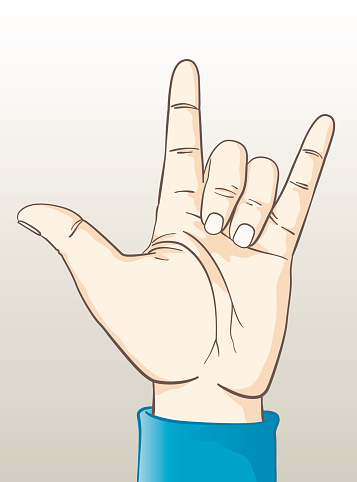 Download Love Hand Sign Stock Illustration - Download Image Now ...