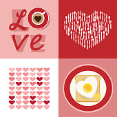Love heart design set