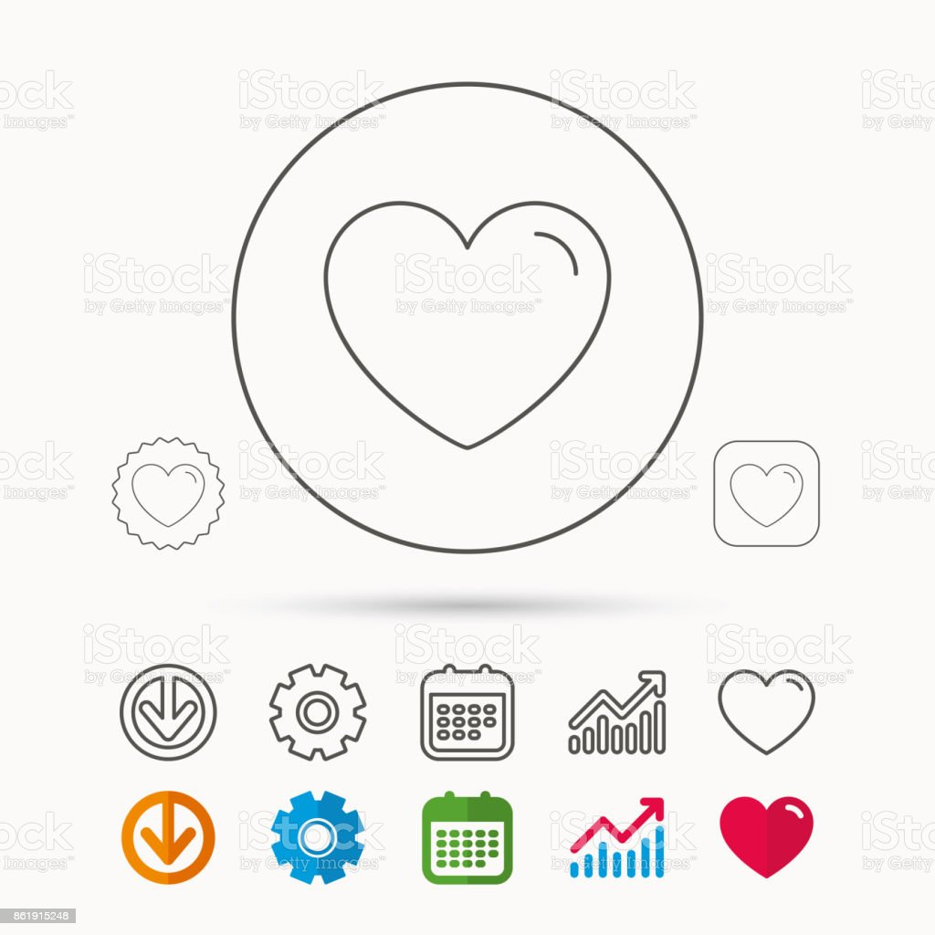 love heart icon life sign stock vector art more images of