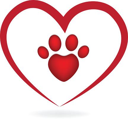 Download Liefde Hart Paw Print Logo Stockvectorkunst en meer ...
