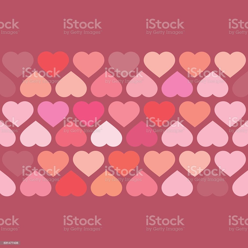 Love Heart Pixelate Pattern Background vector art illustration