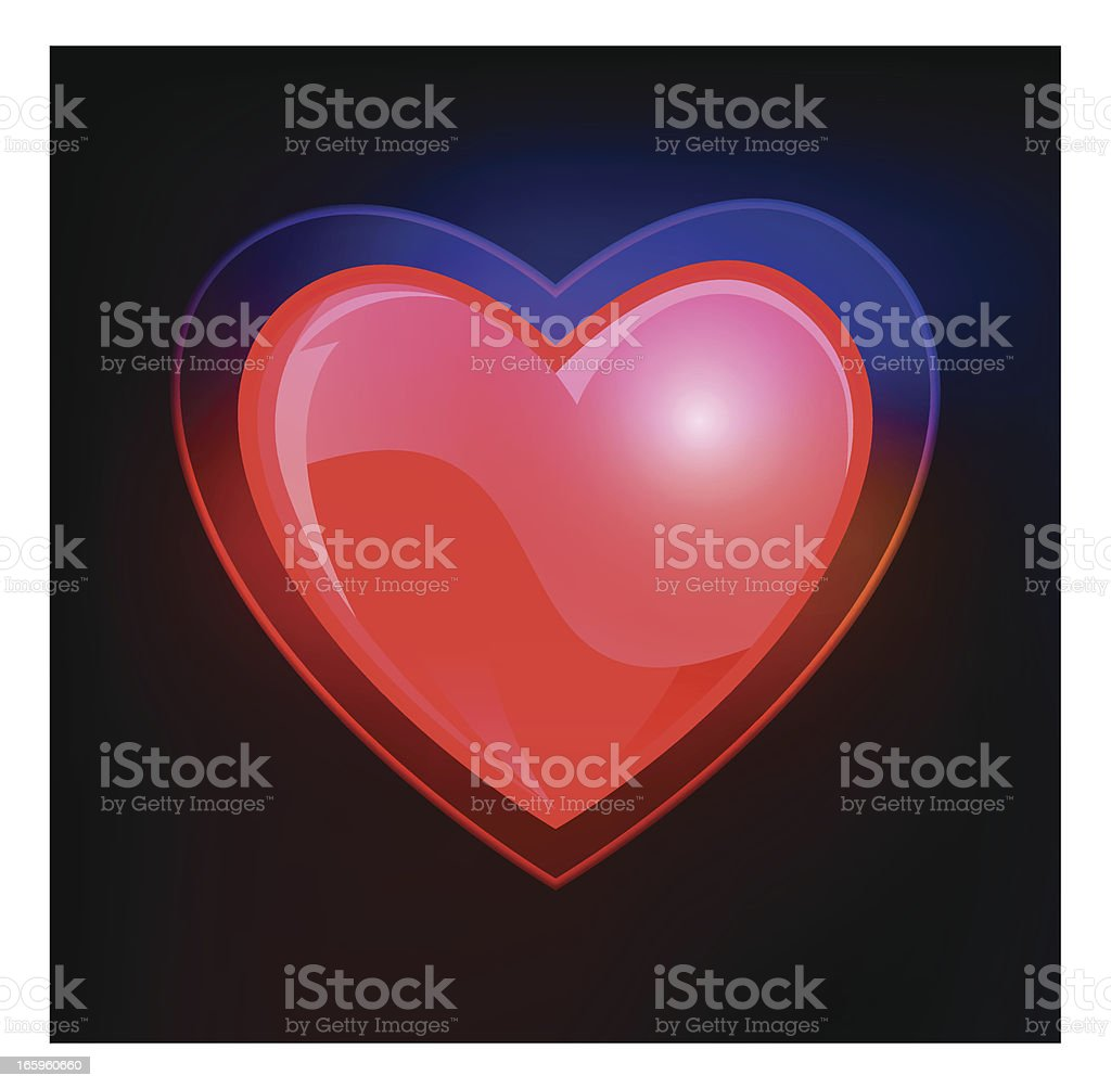 Love heart shape - VECTOR royalty-free stock vector art