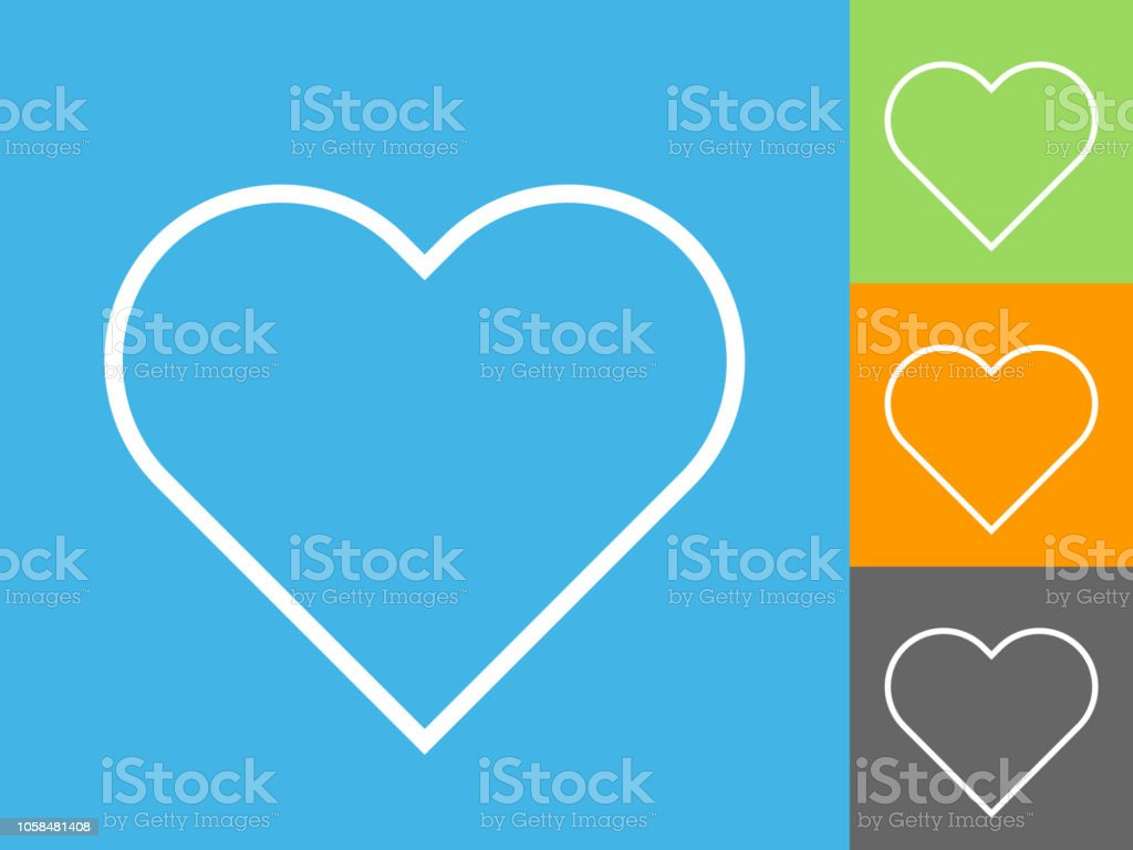 Love Heart Symbol Icon vector art illustration