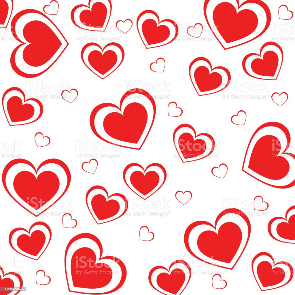 Valentines Love heart. Decorative heart background with lot of...