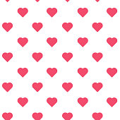 Love Hearts seamless pattern vector illustration. Abstract seamless pattern of hearts for prints, greeting card, wallpaper, cover, gift, banner, poster. Valentines day background vector illustration.