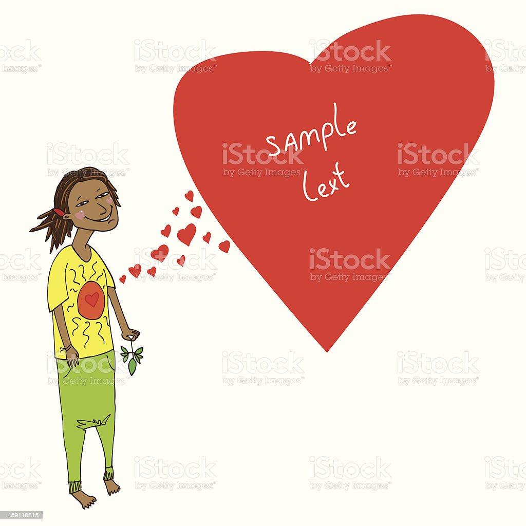 love hippies vector art illustration
