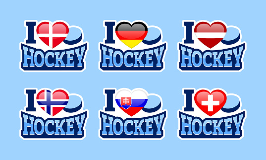 Download I Love Hockey Vector Stickers Denmark Germany Latvia ...