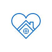 Love home icon