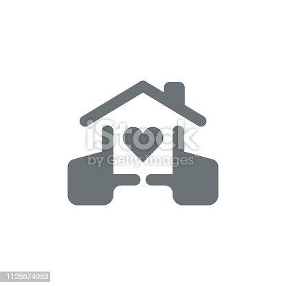 istock Love home icon 1125574053